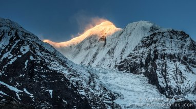Gangapurna on fire