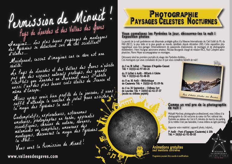 Expo Paysages Célestes Nocturnes 2014